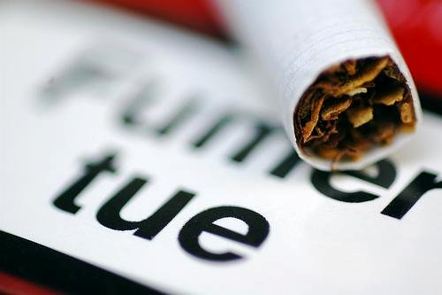 Warning against tobacco's harms